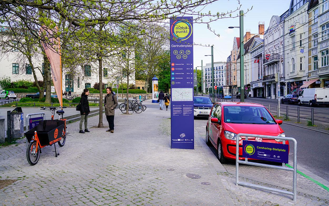 Mobilitätspunkt am Gertrudenplatz