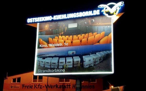 Lichtwerbung Ostseekino