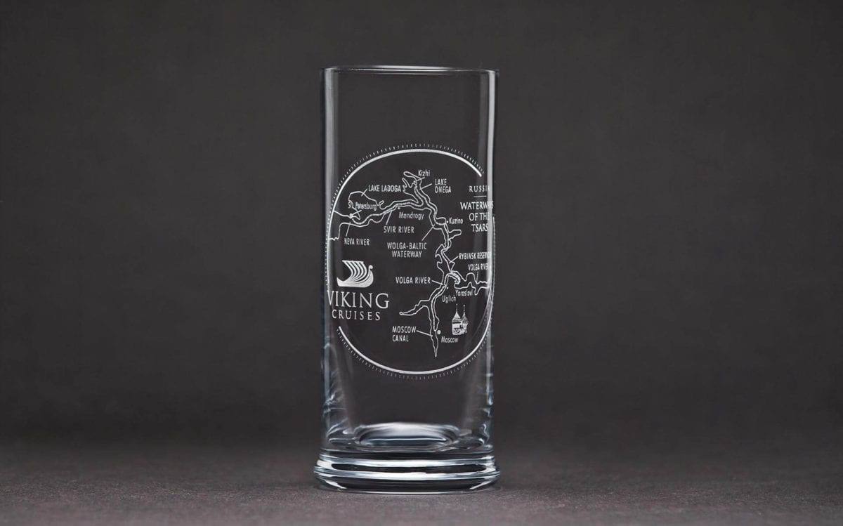 Reederei lasergraviertes Glas