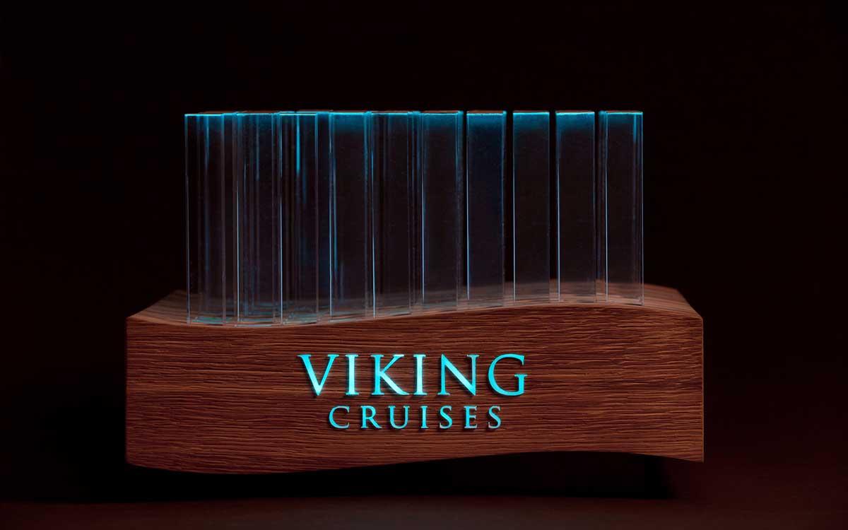 Pokal für eine Reederei für Kreuzfahrtschiffe