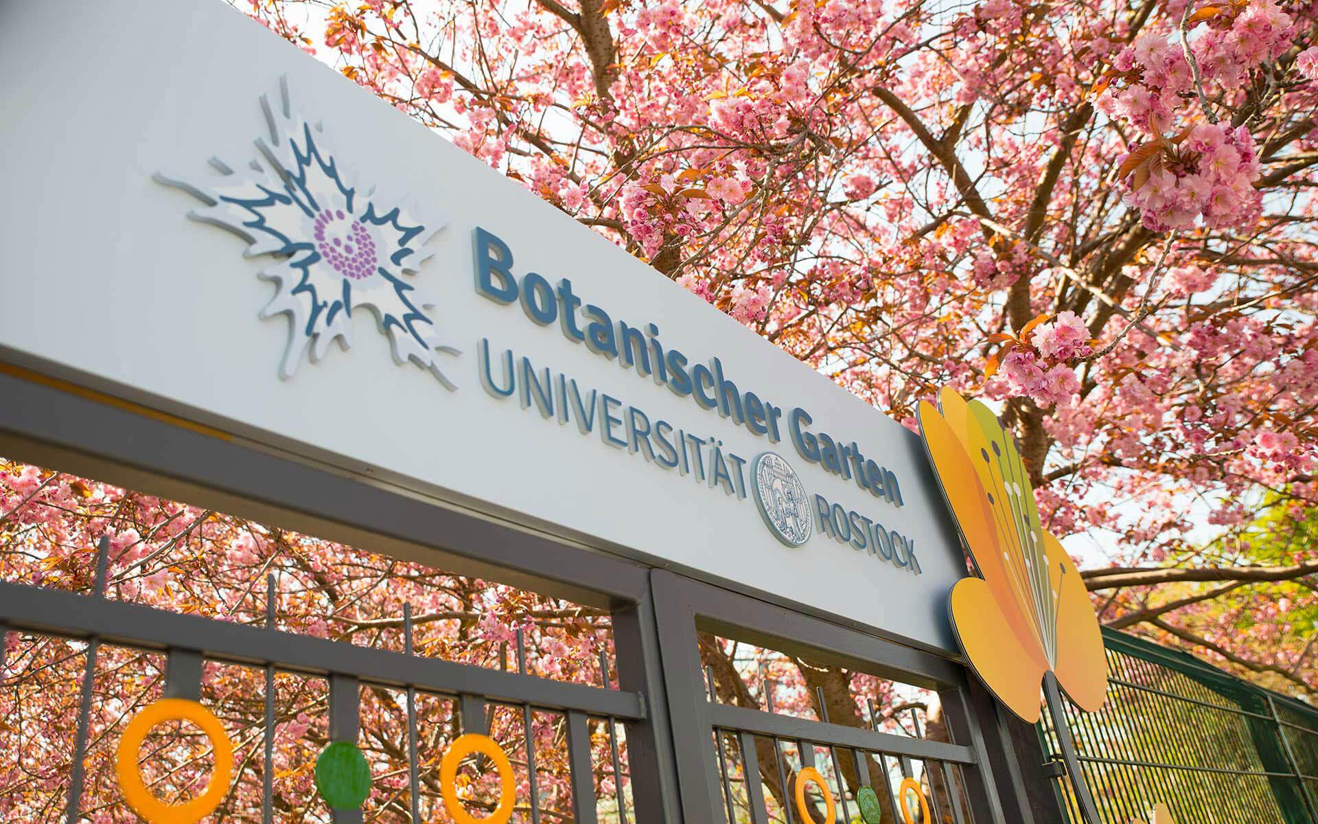 Außenwerbung Botanischer Garten