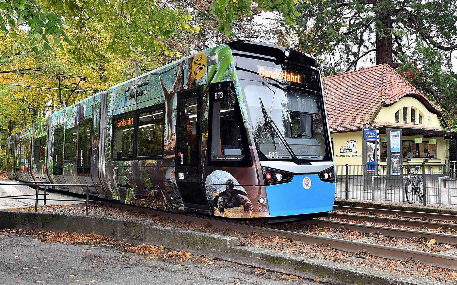 Folierung für eine Straßenbahn