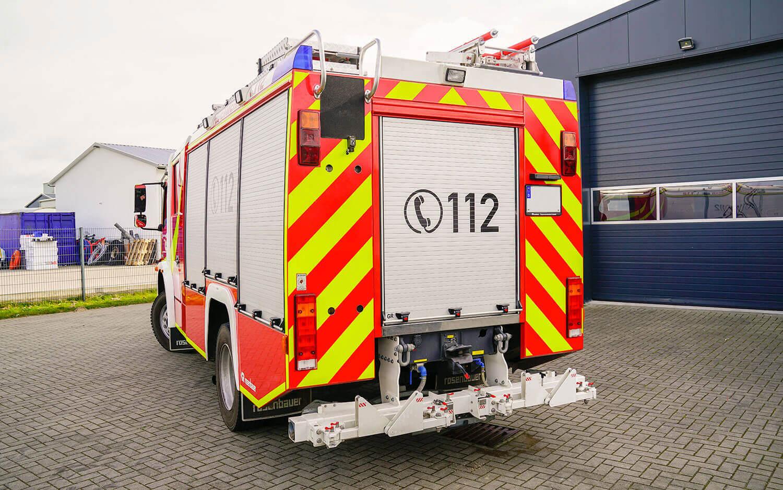 Sicherheitskennzeichnung einer Feuerwehr