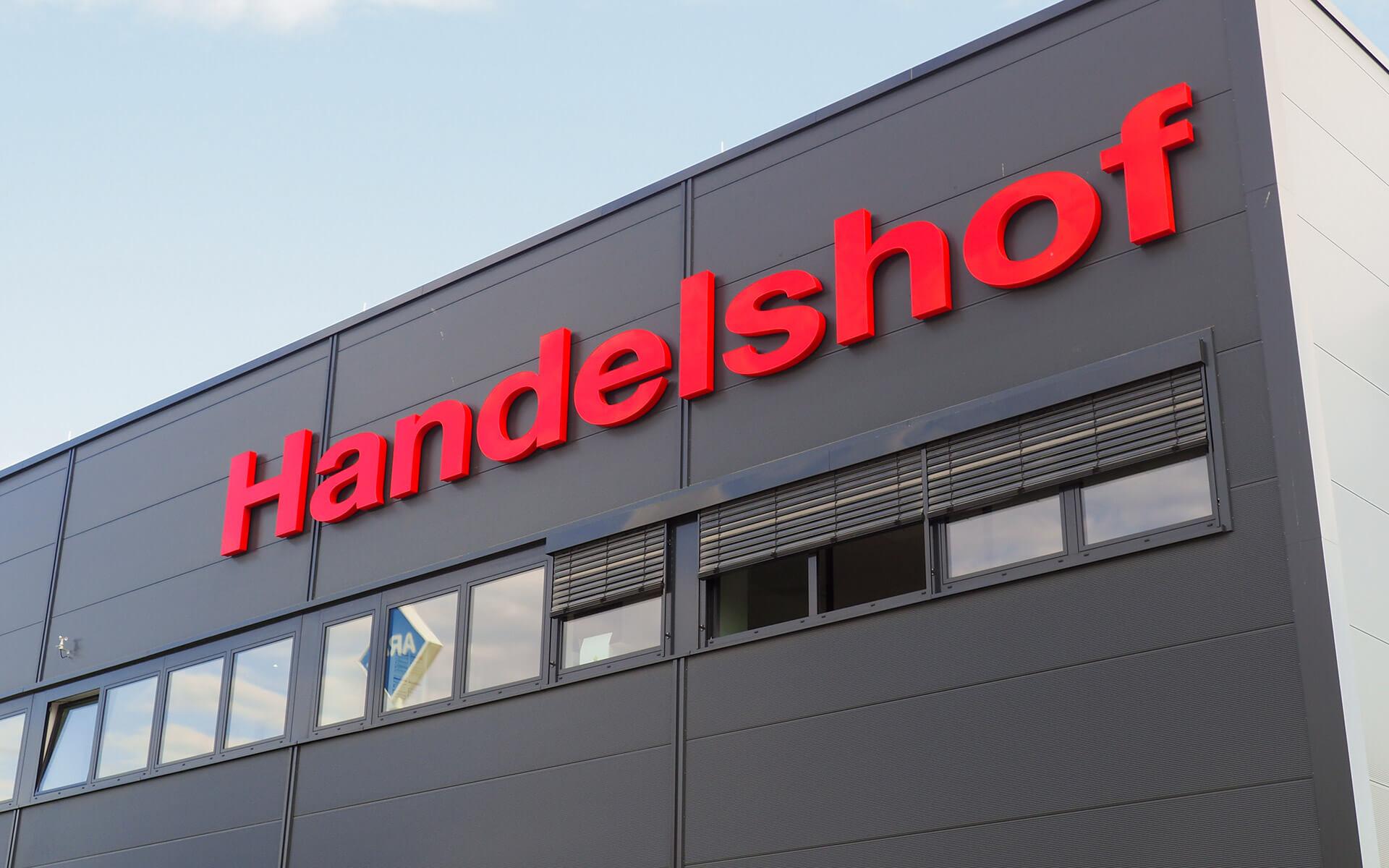 Handelshof Rostock Logo Fassade