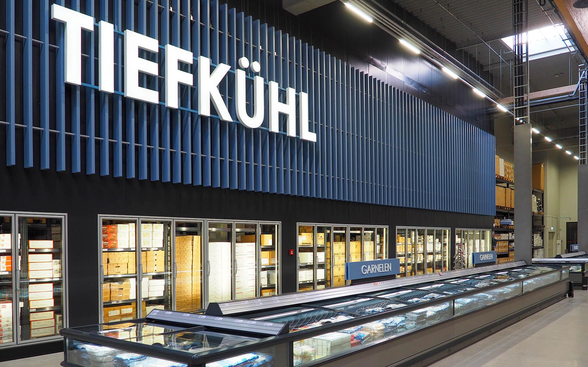 Handelshof Rostock Tiefkühltruhen Beschriftung